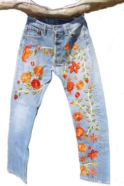 Hand Embroidered Levi's 505                                                                                                                                                      More
