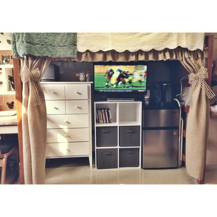 A very smart space-saving idea for your Baylor dorm!
