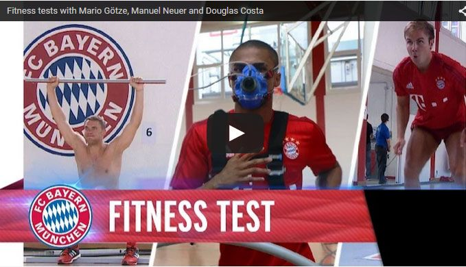 Fitness tests with Mario Götze, Manuel Neuer and Douglas Costa