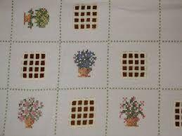 Resultado de imagen para mantel tipico mexicano punto de cruz
