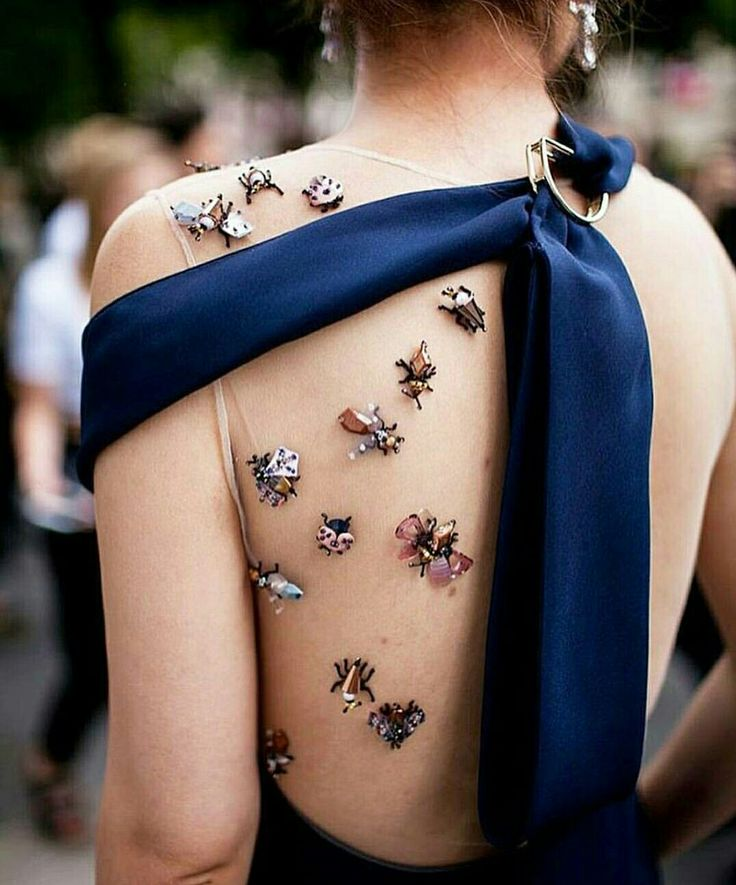 Dior dress with bugs
