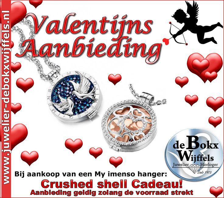 My imenso: bij aankoop van een hanger een crushed shell CADEAU! #valentijn #sieraden