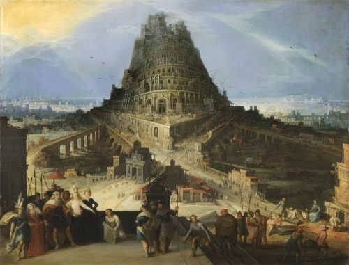 "camilotangerine:  ""Hendrick van Cleve, The Tower of Babel, 16th century, oil on copper, 42 x 55 cm., Fondation Custodia, Collection Frits Lugt, Paris.  """