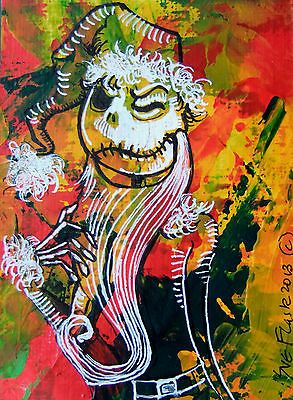 New ACEO 2013 Original Acrylic Nightmare Before Christmas - Jake by Sue Flask