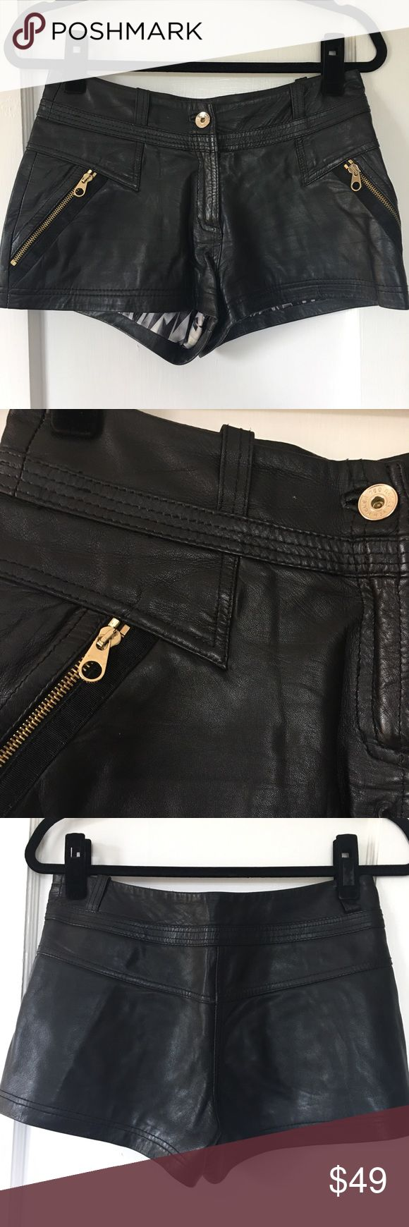Ted Baker black leather shorts Super sexy, super short black leather shorts! Ted Baker Shorts