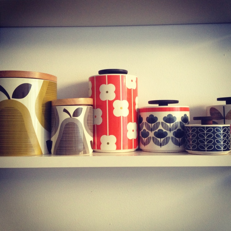Some of my Orla Kiely storage jars!