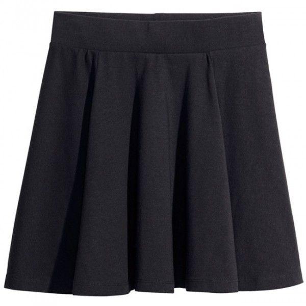 Falda corta de vuelo negra