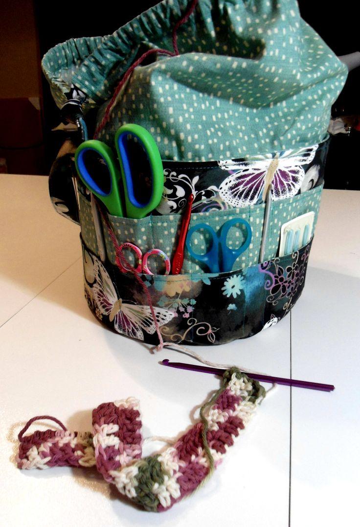 Custom crochet tote