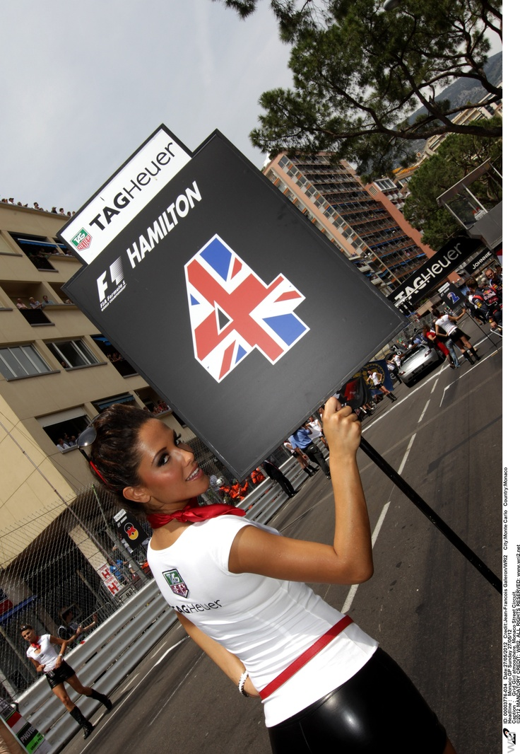 TAG Heuer Grid Girl in Monaco !