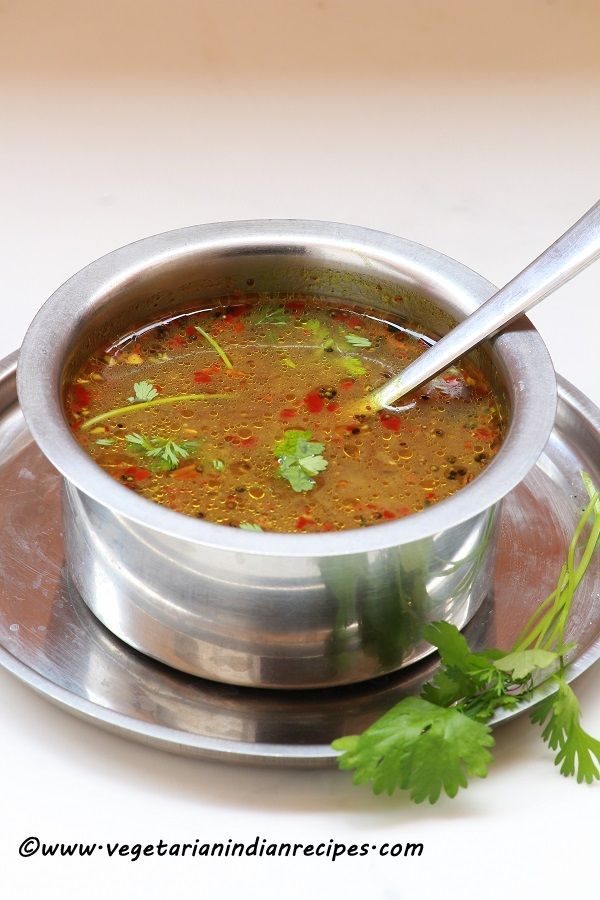 Pepper rasam or milagu rasam is a tasty South Indian dish which can be served along with hot steaming rice and poriyal.  It is perfect for cold climate and very effective for curing cold.