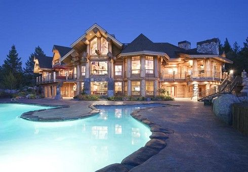 This is a little too big but I love the architecture which include the elements of stone and wood.  Perfect place to have a large family that you could house comfortably.