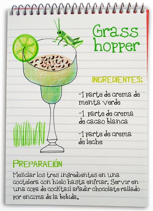 Grass hopper: cóctel mixto