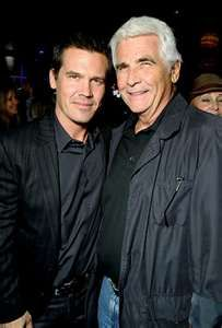Son and Father, Josh and James Brolin. Josh is married to Diane Lane. James is married to Barbra Streisand.