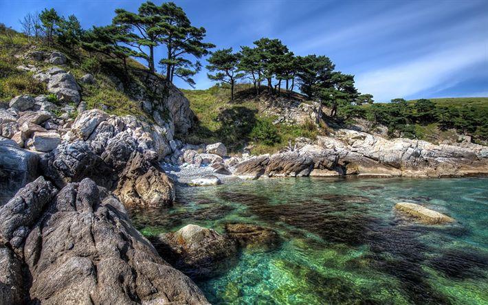 Download wallpapers coast, Mediterranean Sea, Greece, shore, summer