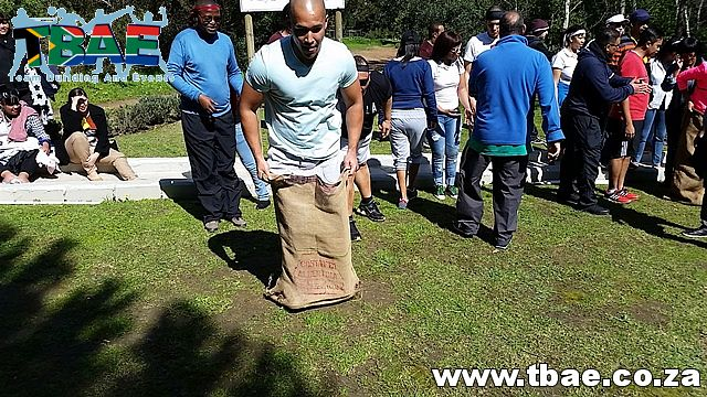 Competing in Team Building Activity #Woolworths #TeamBuilding #CorporateFunDay