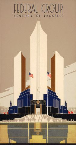 Century of Progress: 1934 Chicago World's Fair. #vintage #chicago