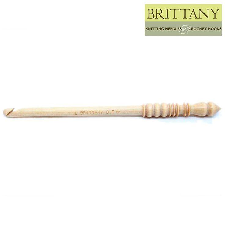 "Brittany 9 mm/US M 13 Birch Crochet Hook 7.5""/19.5 cm long"