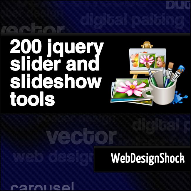 JQuery Slider Tools, 200 Best! This is a selection with 200 of the best jQuery sliders plugins and tutorials with a lot of different features
