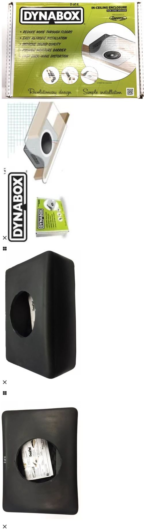 Home Theater Systems: Dynamat 50306 Dynabox Speaker Enclosure For In Ceiling Speakers (12 Remaining!) -> BUY IT NOW ONLY: $79.99 on eBay!