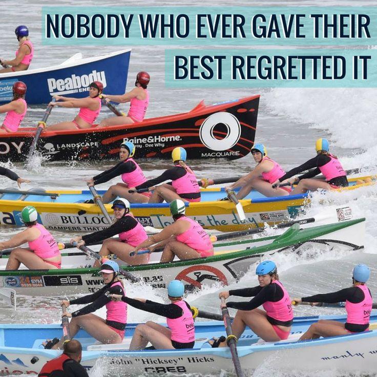Nobody who ever gave their best regretted it.   #staminadequenchers #staminade #surfrowing #surfboat #staminadeOTqualifiers #australian #queensland #nsw #oceansport #sportsquote #inspirationalquote