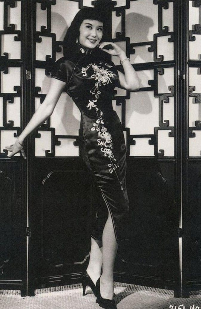 1940s vintage fashion style qipao cheongsam wiggle dress sheath