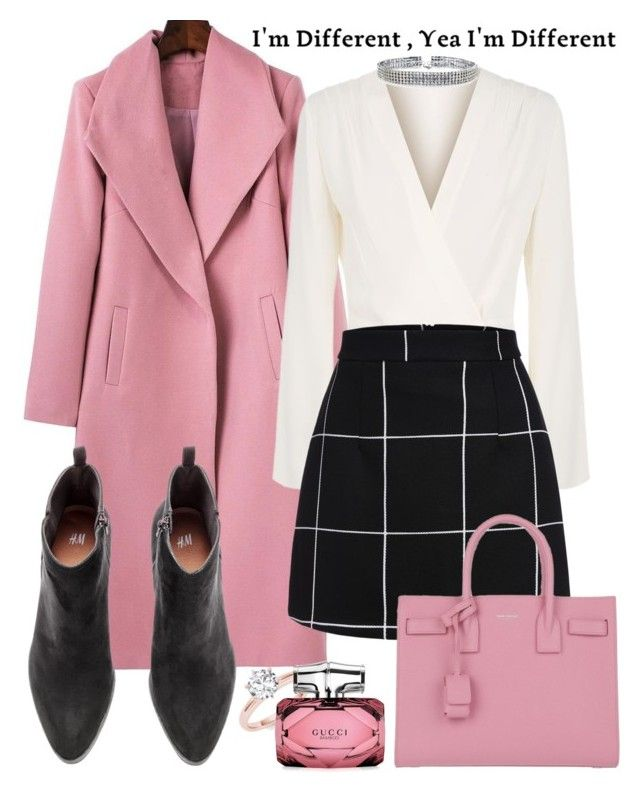"""Bubble gum"" by kitty-kat9 on Polyvore featuring moda, Elizabeth and James, Gucci, Yves Saint Laurent i Bling Jewelry"
