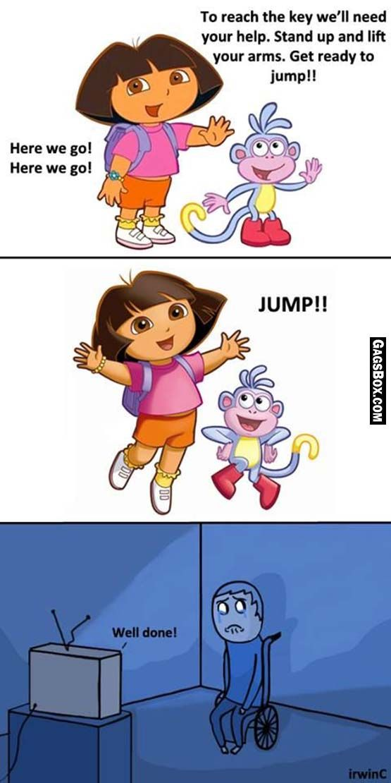 Dora is indifferent to your suffering - #funny, #lol, #fun, #humor, #gag, #lolpics, #funnypics,