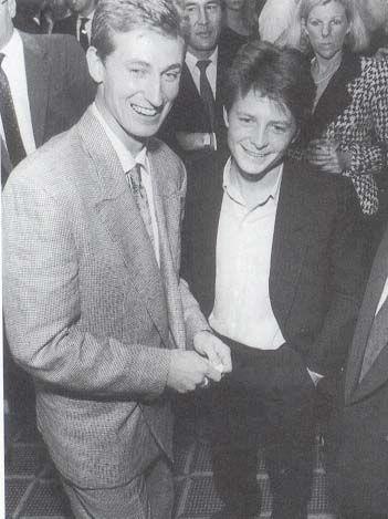 Wayne Gretzky and Michael J. Fox