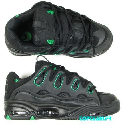 Chaussures Osiris D3 black green 40