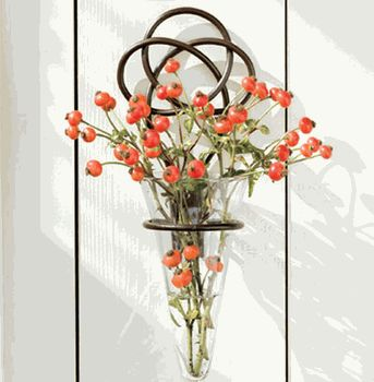 Iron Knot W Glass Wall Vase Where My Heart Is
