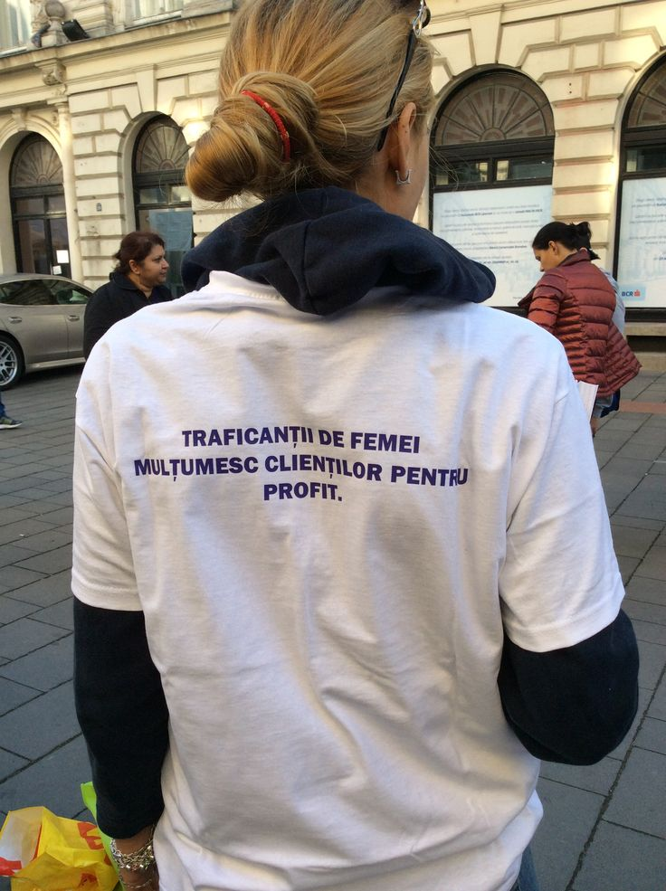 Action against human trafficking.  Bucharest. October 18, 2014