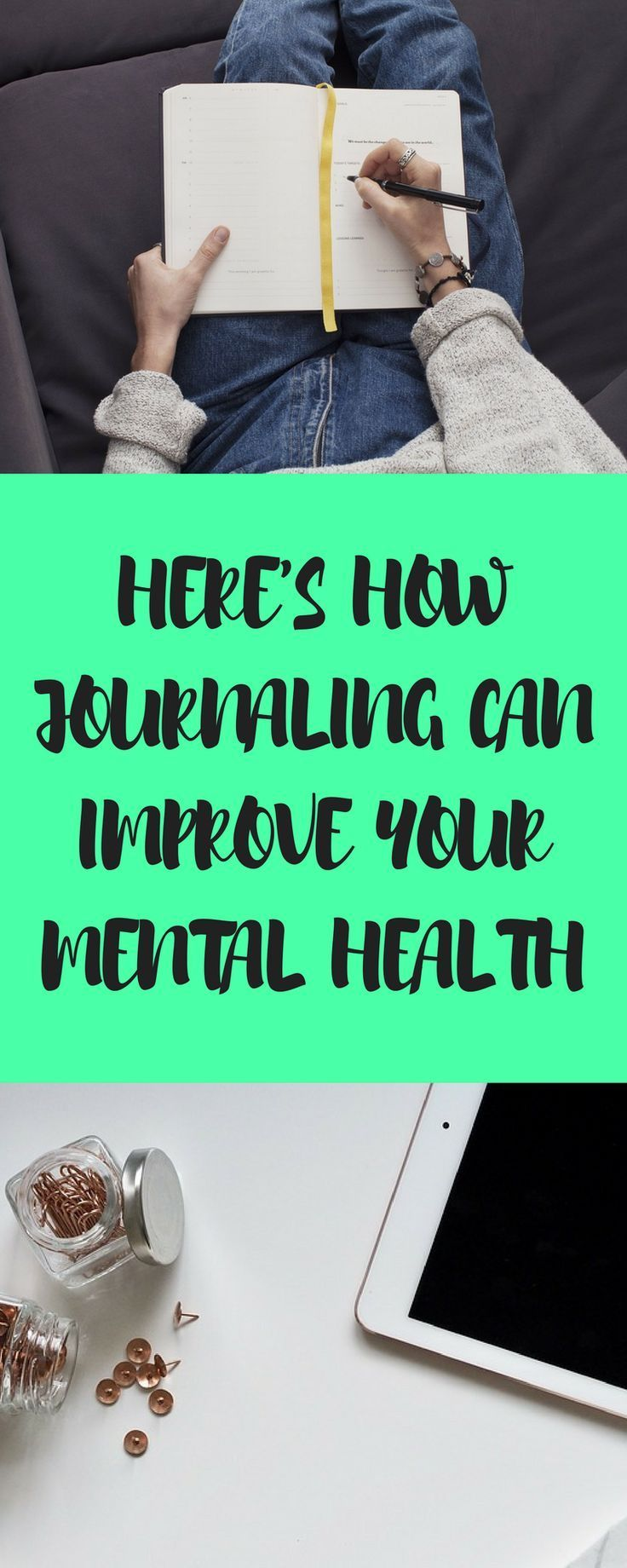 Here's how journaling can improve your mental health.