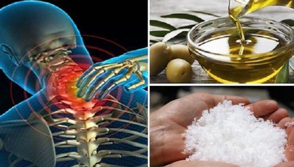 Mélangez le sel de mer avec ces deux huile et vous ne ressentirez plus de douleurs pendant 5 ans !