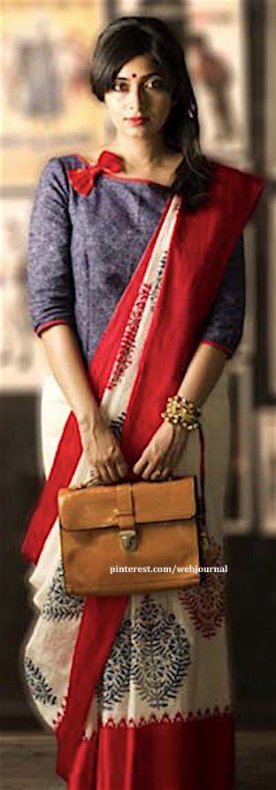 Kolkata handloom saree from Gaatha. Gaatha.com