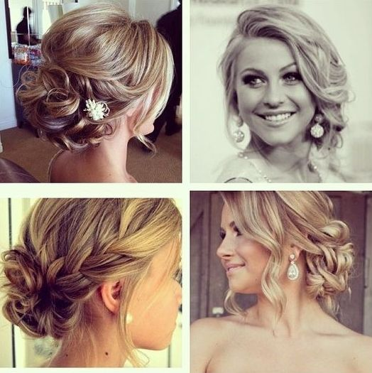 updos/hairstyles - braids and buns and sideswept bangs