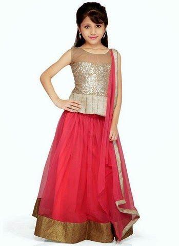 Ethnic Wear Dresses For Kids - Baby Girls Wedding Wear Suits ~ Fashion World Hunt