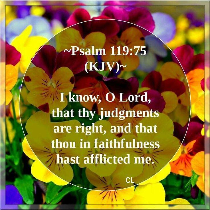 Psalm 119:75 KJV