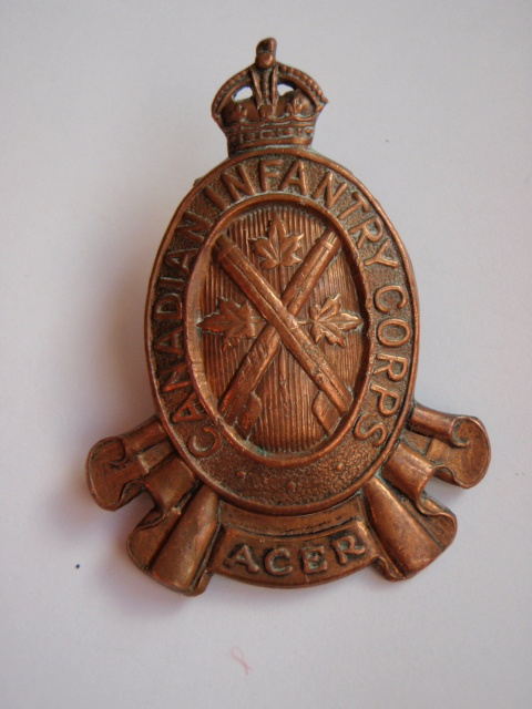 Canadian Infantry Corps Cap Badge