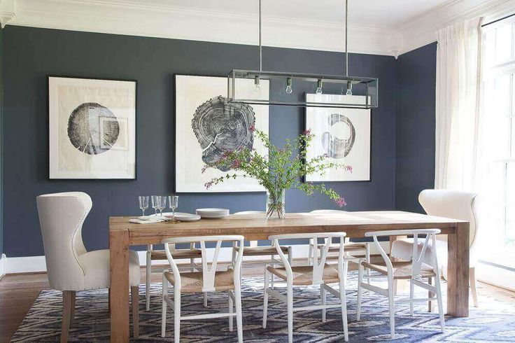 Sala de jantar moderna: Aprenda a decorar +65 modelos   – Parede