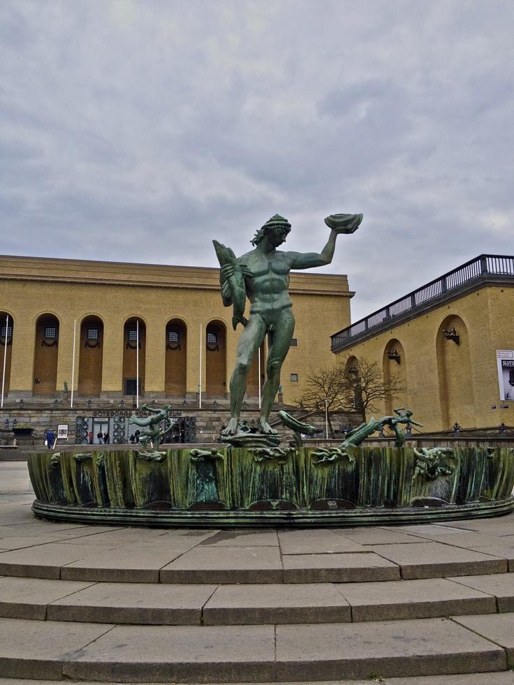 Statue of Poseidon in Goteborg