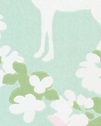 Tapet Apple Garden Soft Turquoise/Green/ Cream White från Majvillan