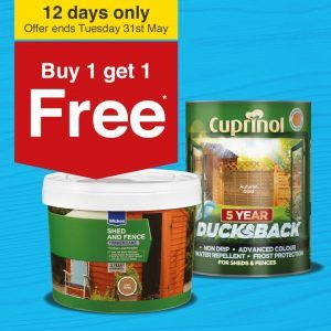 Buy 1 get 1 Free On Wickes Decking And Woodcare - http://www.grabit4free.co.uk/buy-1-get-1-free-on-wickes-decking-and-woodcare-ends-31st-may/
