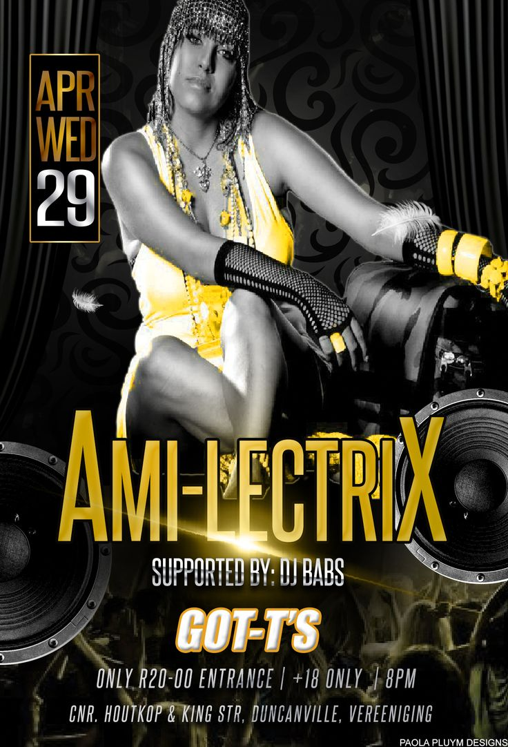 Ami Lectrix at GOT-T'S Pub tonight, 29 April. R20 Entrance