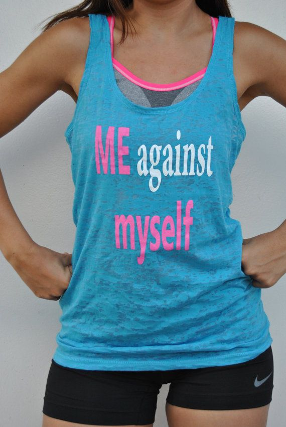 Motivational tank top / Me against myself