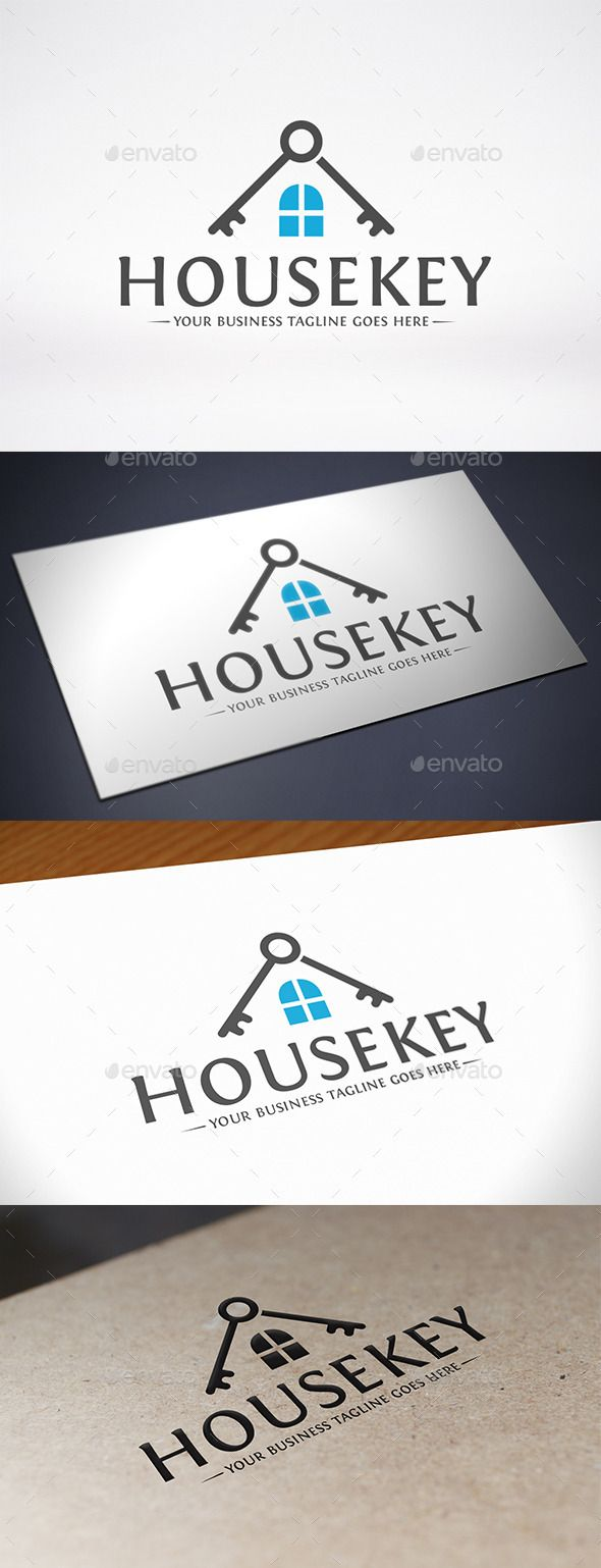 House Key Roof Logo Design Template Vector #logotype Download it here:  http://graphicriver.net/item/house-key-roof-logo-template/10838757?s_rank=1527?ref=nexion