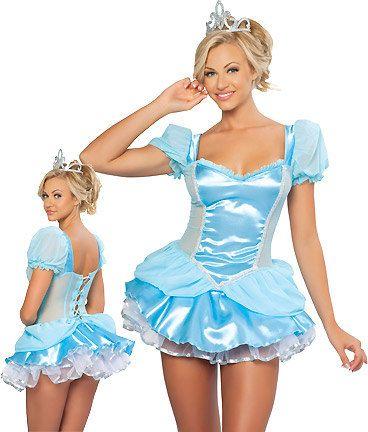 Disney's Cinderella adult Halloween costume sexy satin glass slipper costume