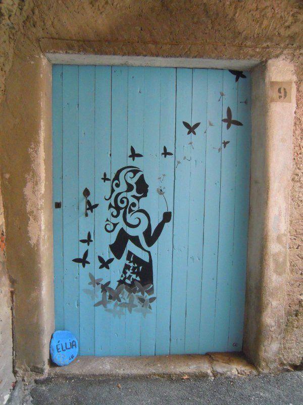 Ellera, Italy Butterflies should follow along the wall