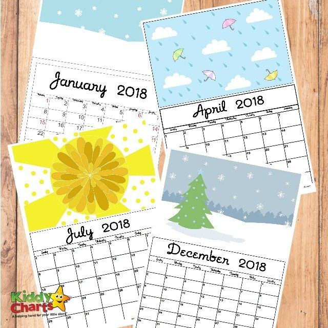 Get your free printable 2018 calendar here. It has enough space for you to mark birthdays & plan special events, and it comes with wonderful illustrations.