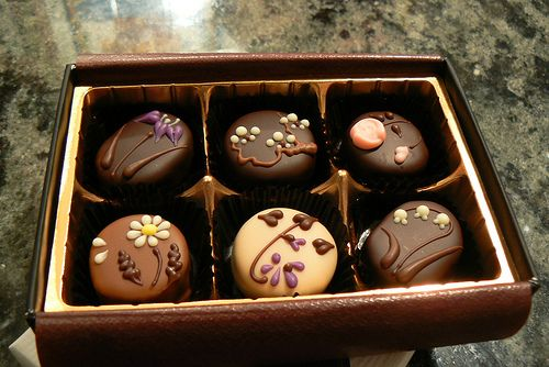 Some really cute chocolates.