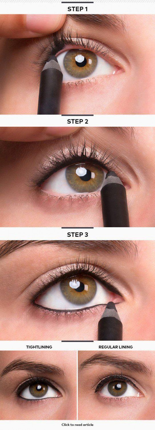 Eyeliner for Small Eyes - 12 Different Eyeliner Tutorials You'll Be Thankful For | Makeup Tips & Tricks at http://makeuptutorials.com/12-different-eyeliner-tutorials-youll-thankful/